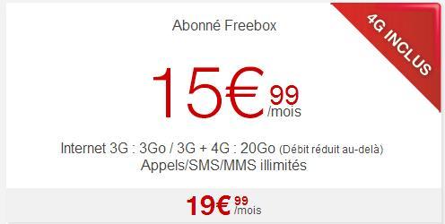 forfait Free 4G avec 20 Go-Info iDevice