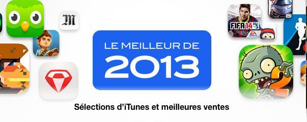 le meilleur de 2013 App Store iTunes-Info iDevice