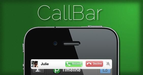 CallBar Cydia-Info iDevice