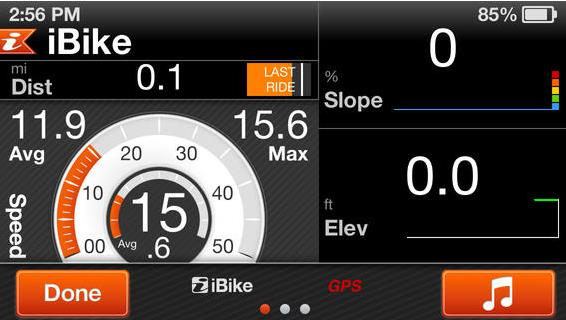 GPS ibike iTunes-Info iDevice