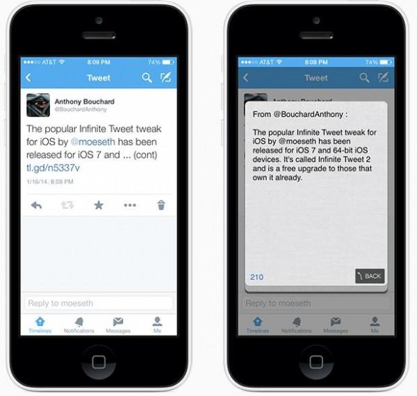 Infinite Tweet 2 tweeter plus de 140 caractères- Info iDevice