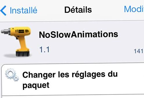 NoSlowAnimations tweak Cydia-Info iDevice