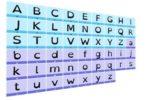 image illustrant l'alphabet écrit avec la police OpenDyslexic