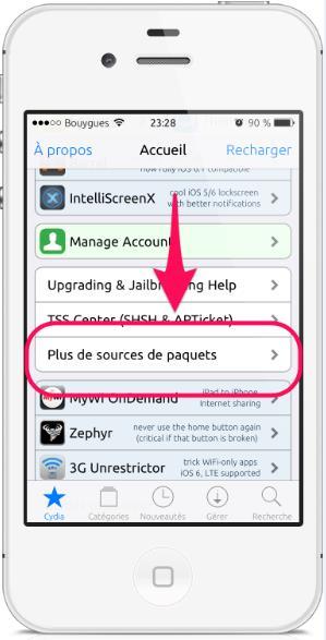 plus de sources cydia -Info iDevice