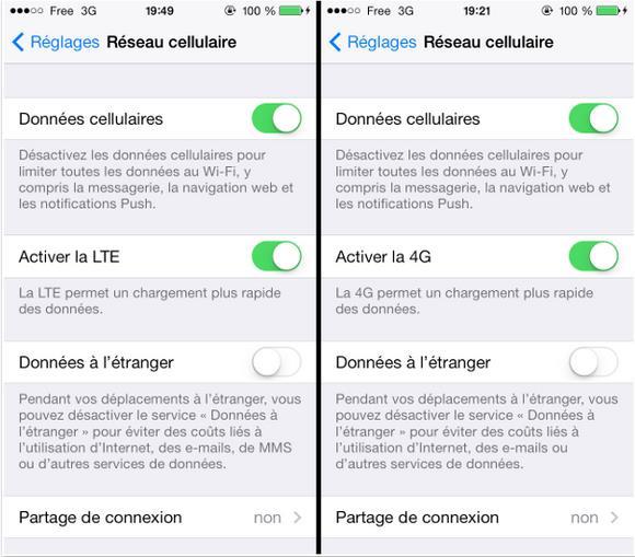 réseau 4G - LTE sur iPhone 5S-5C-Info iDevice