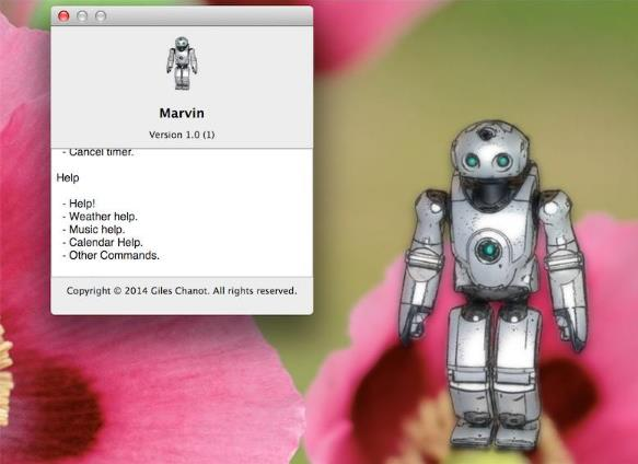 image de l'assistant vocal Marvin sur Mac OS X