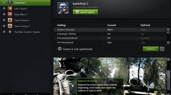 réglage des jeux PC avec GeForce Experience