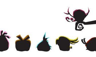 image des oiseaux Angry Birds de Rovio en ombre chinoise