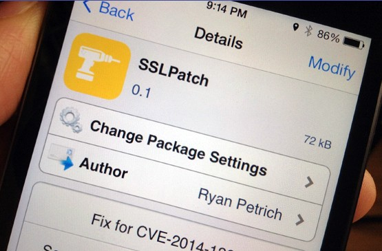 image du tweak SSLPatch sur Cydia