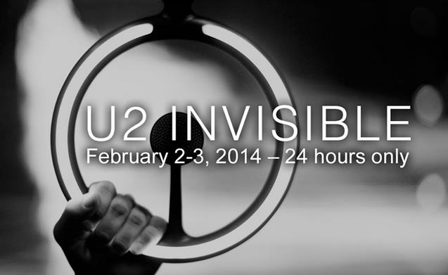 image du single Invisible de U2