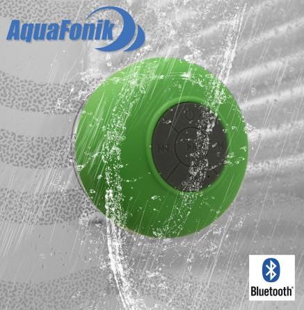 enceinte bluetooth aquafonik sous la douche