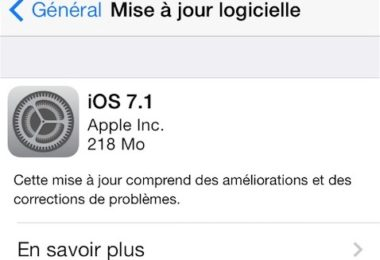 Apple libère iOS 7.1