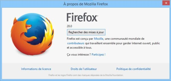 Firefox 28 Windows 8.1