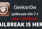Jailbreak iOS 7.1 Geeksn0w pour Windows