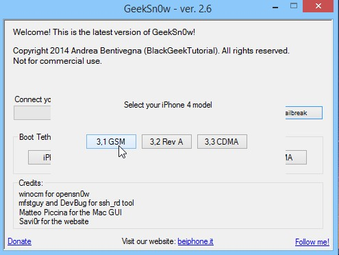 Jailbreak Iphone 4 Ios 7.1 Geeksn0w Infoidevice 1
