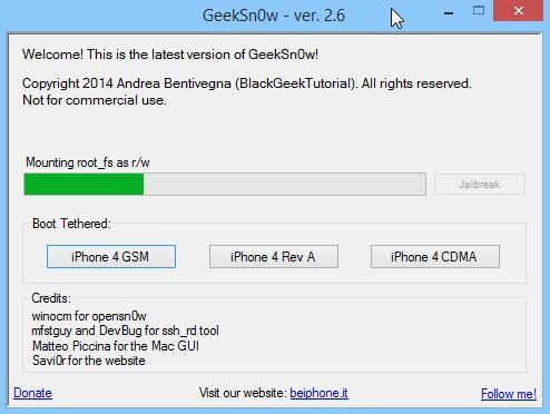 Jailbreak Iphone 4 Ios 7.1 Geeksn0w Infoidevice 2