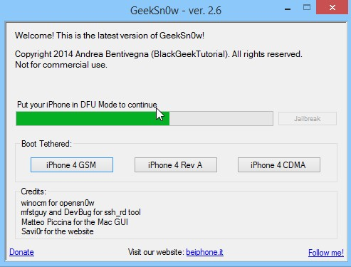 Jailbreak Iphone 4 Ios 7.1 Geeksn0w Infoidevice 3