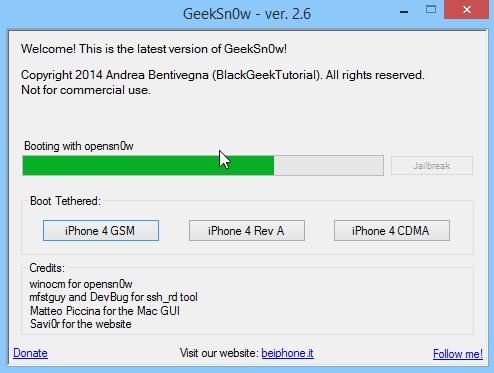 Jailbreak Iphone 4 Ios 7.1 Geeksn0w Infoidevice 4