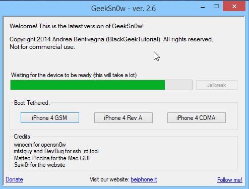 Jailbreak Iphone 4 Ios 7.1 Geeksn0w Infoidevice 5