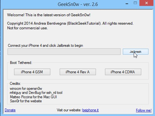 Jailbreak Iphone 4 Ios 7.1 Geeksn0w Infoidevice