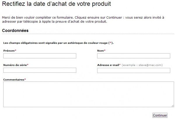 modifier la date d'activation iphone Apple