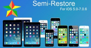 semi-restore for iOS 5.0 - 7.0.6