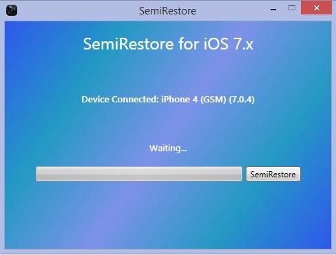 semi-restore iOS 7.0.4