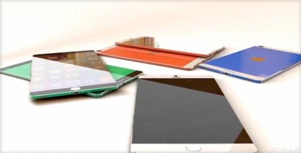 concept iPhone 6 avec double écran coulissant