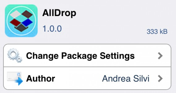 AllDrop sauvegarde sur DropBox