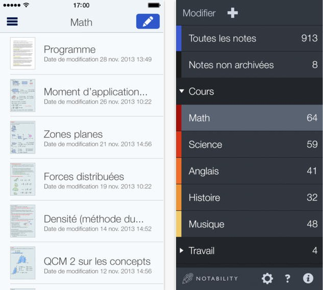application Notability gratuit