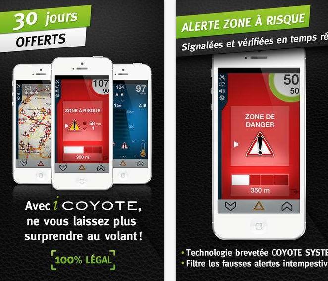 icoyote gratuit pour concurrencer Waze