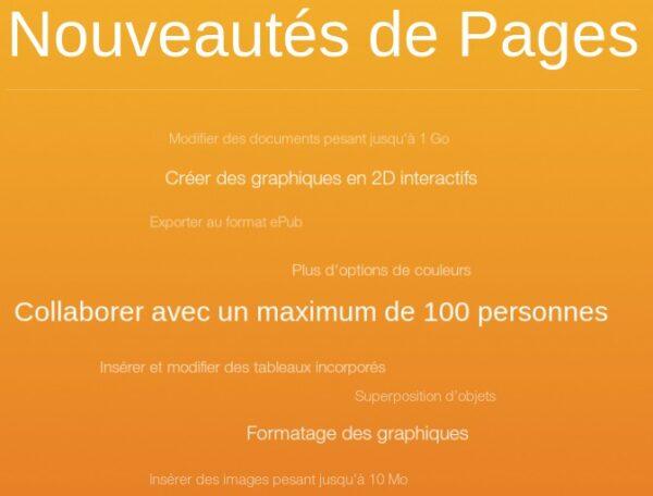 nouveautés iWork pour iCloud-infoidevice