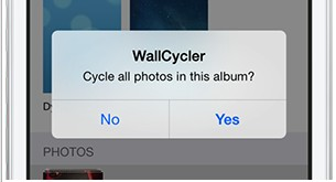 option wallcycler sur iphone ios 7