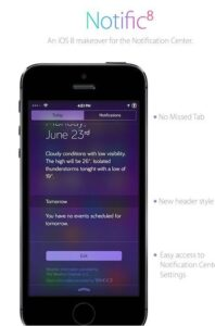 Notific8 notifications iOS 8 sur iOS 7.x