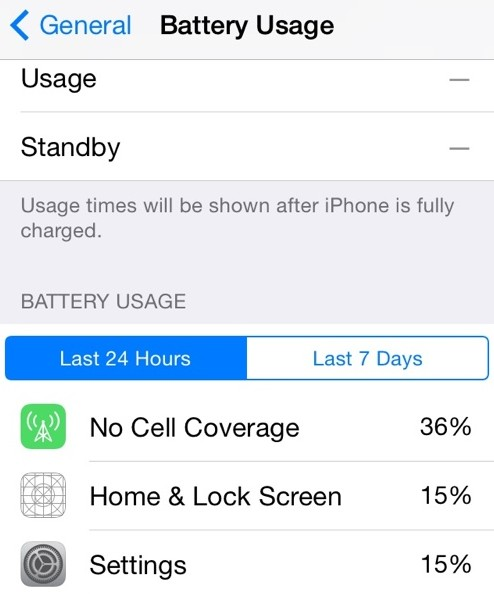 battery usage ios 8 beta 2