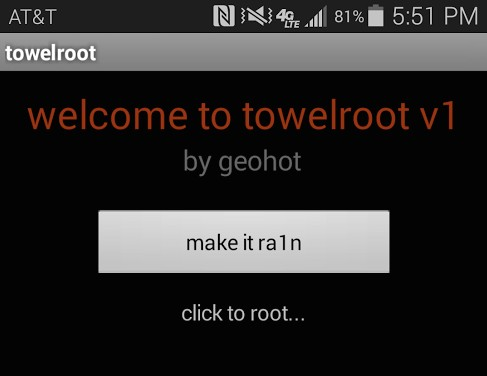 towelroot Geohot Samsung Galaxy s5