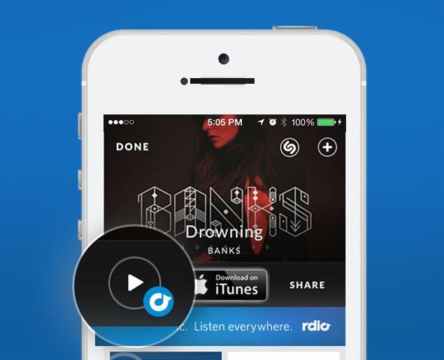 Shazam Rdio écouter la musique en streaming