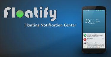 floatify notification center Android L kitkat