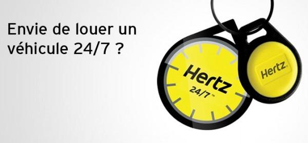 location de véhicule Hertz 24/7
