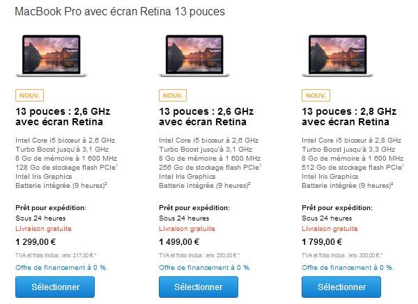 macbook pro retina 13 pouces 2014