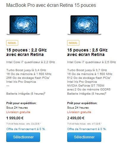 macbook pro retina 15 pouces 2014