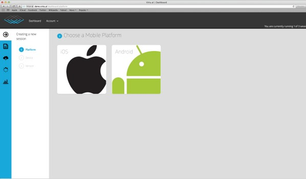virtualier iOS et Android