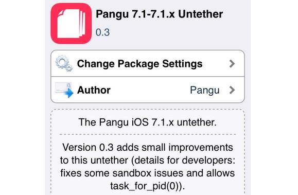 jailbreak pangu 7.1.x untether