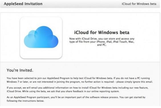 icloud drive beta pour windows