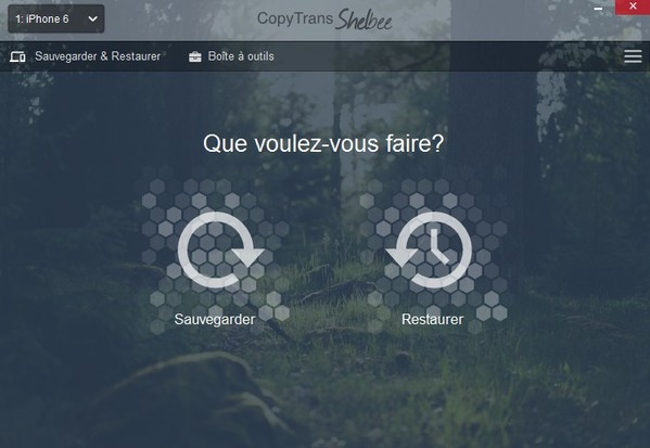 sauvegarder iphone avec copytrans shelbee-infoidevice