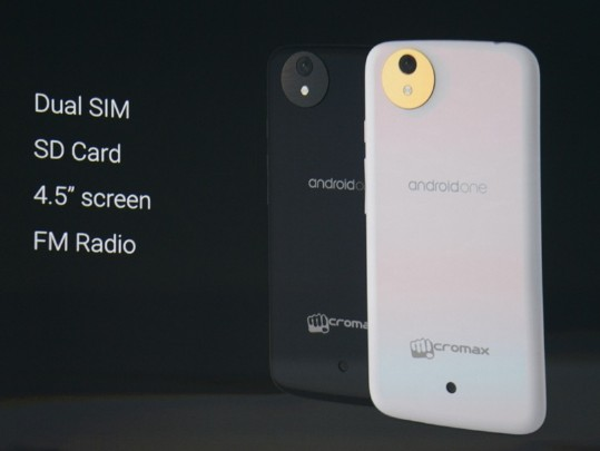 smartphone Android One Micromax