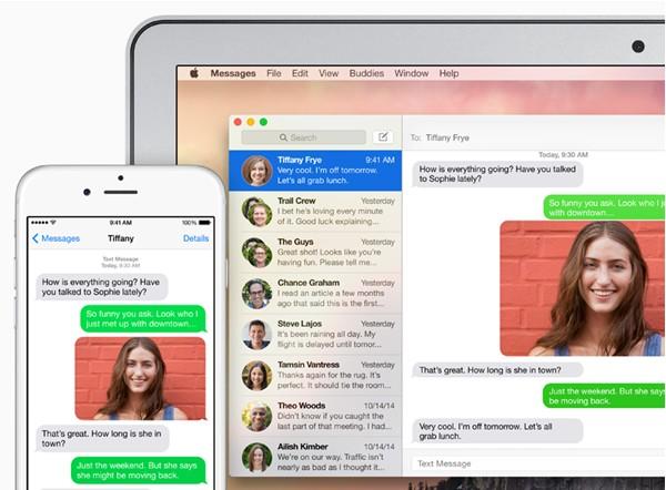 SMS sur Mac os x yosemite