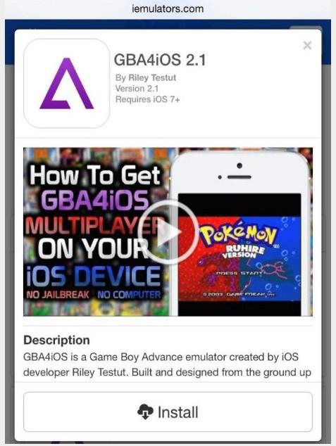GBA4ios emulateur gameboy advance ios 8.1