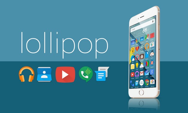 android lollipop sur iPhone