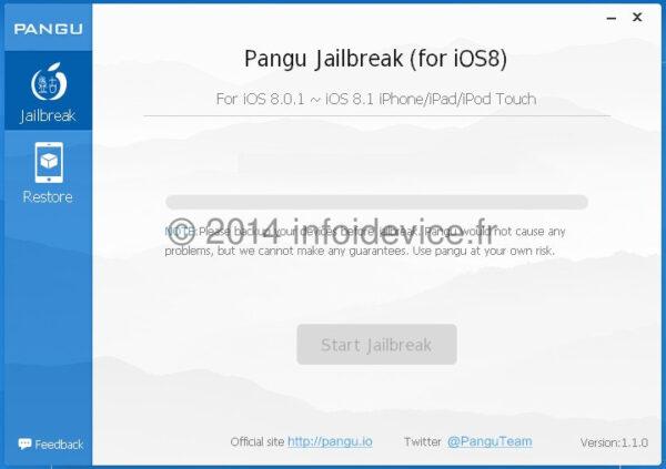 jailbreak untethered ios 8-ios 8.1 Pangu 8